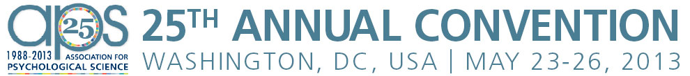25th APS Annual Convention: Mark Your Calendar (Washington, DC, USA - May 23-26, 2013)