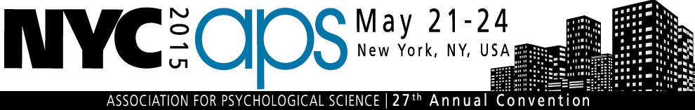27th APS Annual Convention: Mark Your Calendar (New York, NY, USA - May 21-24, 2015)