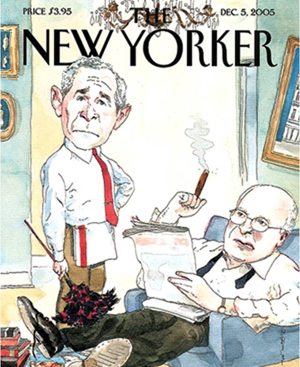 "The cover illustration on the Dec. 5, 2005 issue of the New Yorker magazine ""is a classic example of how indicative posture can be in determining whether people act as though they are in charge,"" Professor Adam Galinsky says."