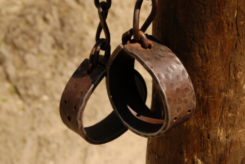 This is a picture of hand shackles. Research tells us that those that have not experienced torture, cannot judge torture.