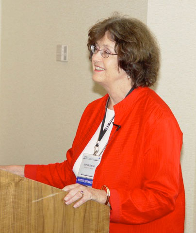 Judy DeLoache speaking on Thursday at the APS 23rd Annual Convention.