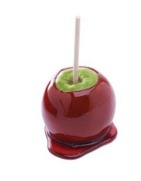 This is a photo of a candied apple