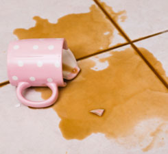 This is a photo of a broken coffee mug.