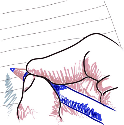 "This is a photo of a person holding a pen.  Readers responded differently to stories depending upon whether they are narrated from the perspective of ""you"" or '""I."""