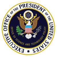 "This is a photo of a seal that reads, ""Executive Office of the President of the United States."""