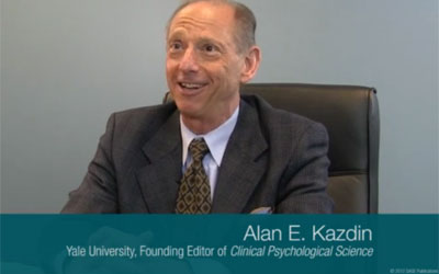 This is a photo of Clinical Psychological Science Founding Editor Alan Kazdin.