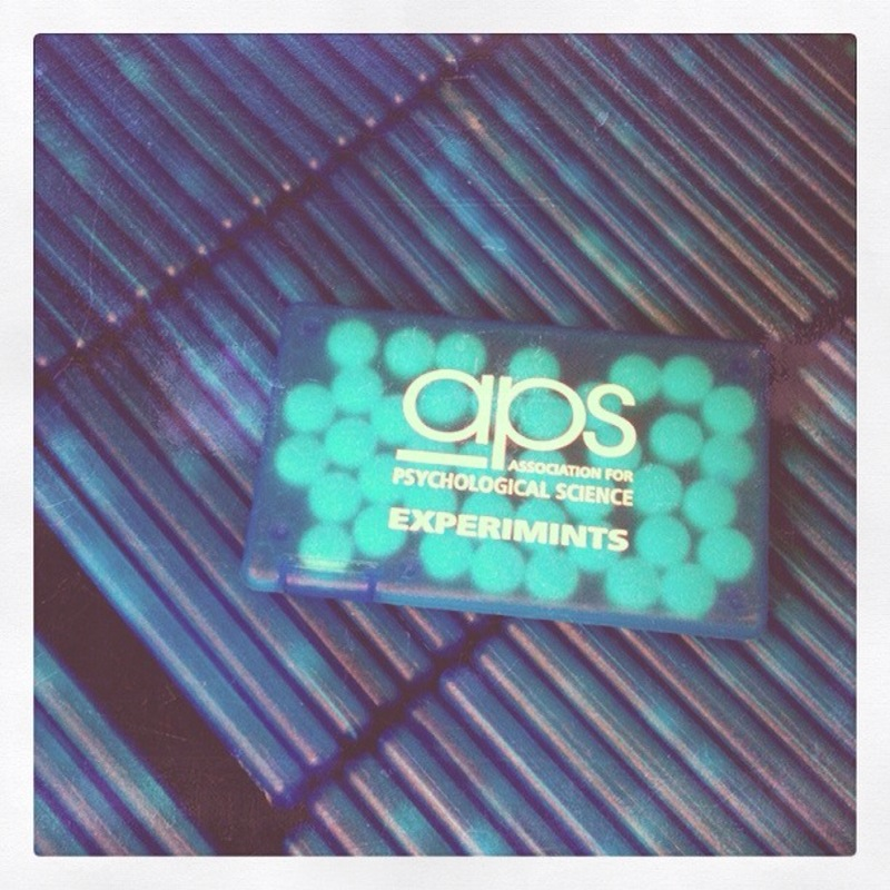 Discriminating APS Convention attendees don't just want to look nice — they want to smell nice, too. Keep your breath fresh with APS Experimints.
