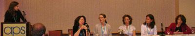 L-R: Rebecca A. Ferrer, Lisa Feldman Barrett, Lisbeth Nielsen, Melissa W. Riddle, Emily Falk, Betty Tuller