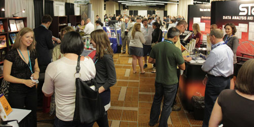The Exhibit Hall was a popular stop at the Convention.