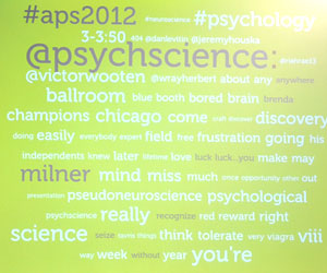 Twitter was abuzz with psychological science throughout the convention.