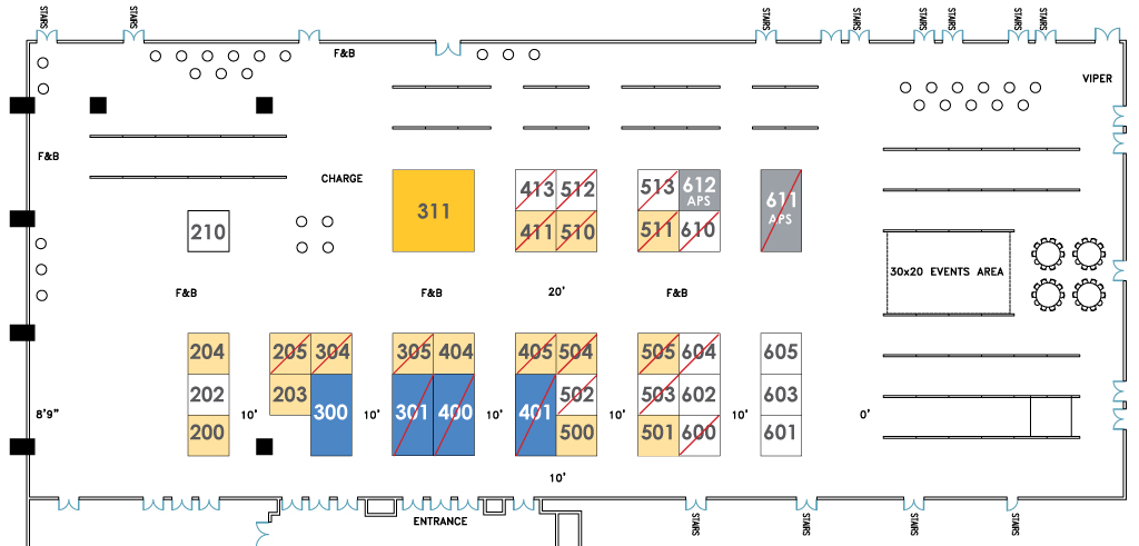 Map of Exhibit Booths at APS 2018 Annual Convention