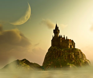 This is a photo of a castle in a fantasy world.