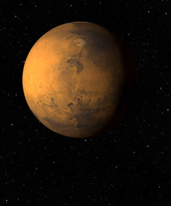 This is a photo of Mars.