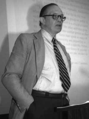 "George A. Miller delivers the Keynote Address, ""The Place of Language in Scientific Psychology,"" at the first APS Annual Convention in 1989."