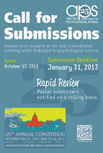2013 APS Call for Submissions Poster