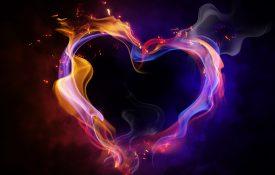 Heart shape on fire