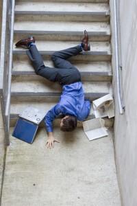Man Falling Down Stairs