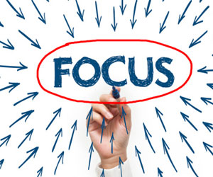 "This is a picture of the word ""focus"""