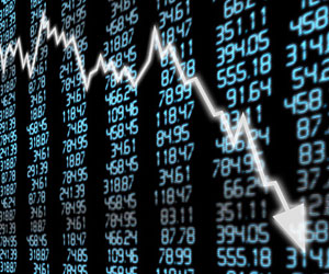 This is an image of decreasing stock prices.