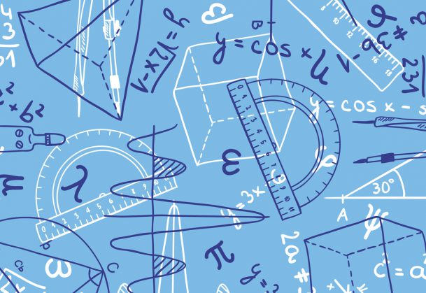 This is an illustration of mathematics drawings and equations