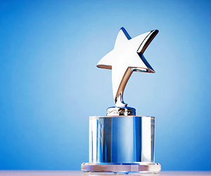 This is a photo of an award trophy.