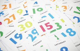 Tax day deadline 15th April - calendar pieces. Planning and time management concept.