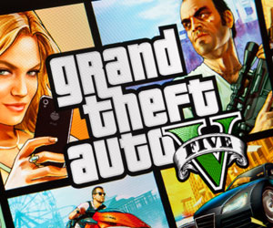 This is a photo of artwork for the game Grand Theft Auto.