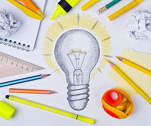 This is an illustration of a drawing of a lightbulb.