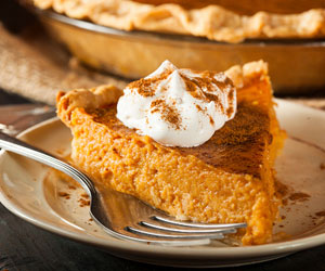 This is a photo of pumpkin pie.