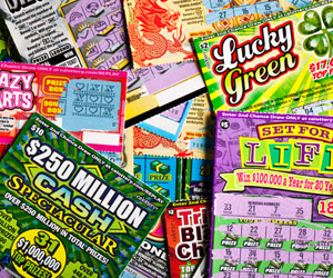 This is a photo of scratcher lottery tickets.