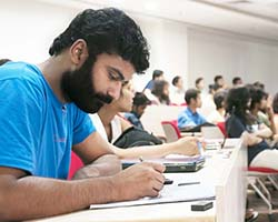 This is a photo of a student at Ashoka University.