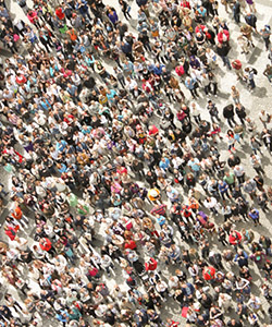 This is a photo of a crowd of people.