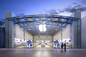 This image is of an Apple store.