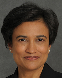 This is a portrait of APS President Elect Suparna Rajaram.