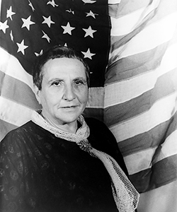 This is a photo of Gertrude Stein.