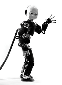 This is a photo of the iCub robot.