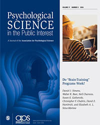 This is a photo of the PSPI brain-training issue.