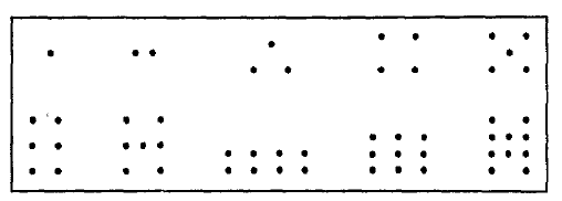This is a figure of dot configurations.