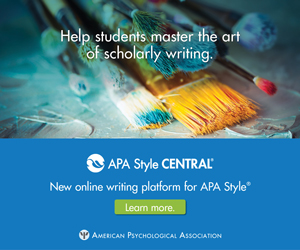 This is an advertisement for APA Style Central.