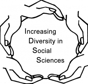 Logo for IDSS Cirlce of Hands with Increasing Diversity in Social Sciences in center