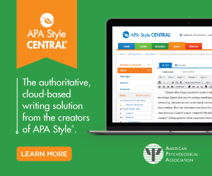 APA Style Central Advertisement