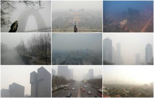 Polluted scenes from Beijing