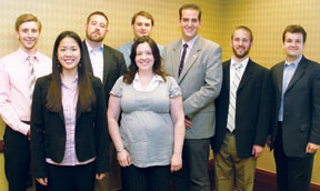 APSSC Executive Board. L to R: Nathaniel Ring; Jessica Wong; Jeremy Ashton Houska; Paul J. Schroeder, III; Mandi White-Ajmani; Peter Vernig; Nathan Medeiros-Ward; Andy DeSoto