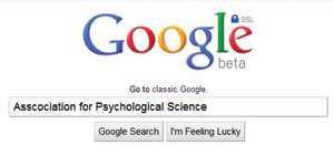 This is a photo of a Google search box.