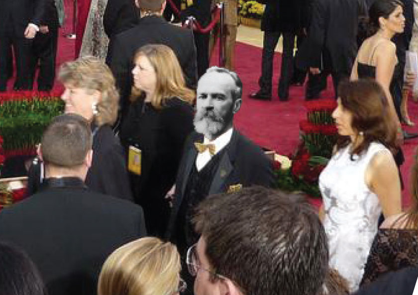 William James was seen mingling among the stars at the Academy Awards. He won Best Dressed in 1913, but has yet to make a fashion comeback.