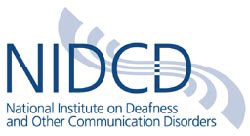 This is a photo of the NIDCD logo.