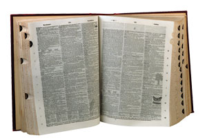 This is a photo of a dictionary.