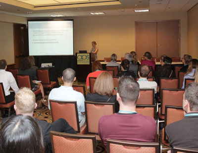 Full crowd at the Pain, Fear, and Suffering symposium on Sunday.