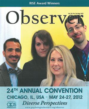 RISE Award Research Award winners Ethan H. Mereish, Tegan B. Garland, Bridget R. Jeter, and Gal Slonim.
