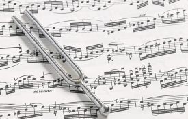 A-440 Tuning Fork and Sheet Music
